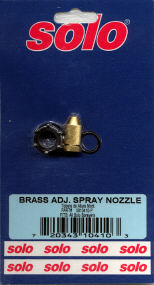 Solo 06-10-410-P Brass Adjustable Spray Nozzle Kit