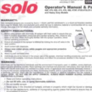 Solo Sprayer Parts